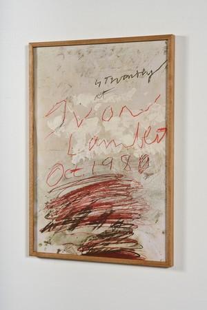 Cy Twombly / YVON LAMBERT ポスター 1980 額装済