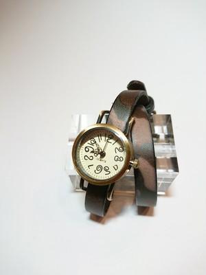 アンティーク風2連時計