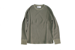 SALE!!10%OFF  T・H・M  Crew Neck Thermal カーキ(M)