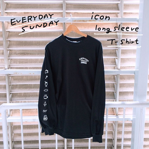 EVERYDAY SUNDAY icon long sleeve T-shirt