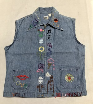 70's LEE Cut Off Hippie Vest MADE IN USA