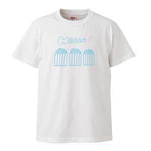 3人ポップコーンTシャツ(ホワイトS/L)