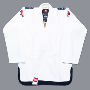 【予約注文受付中】 SCRAMBLE ATHLETE 4: 550+ ( ホワイト、白)|ブラジリアン柔術衣