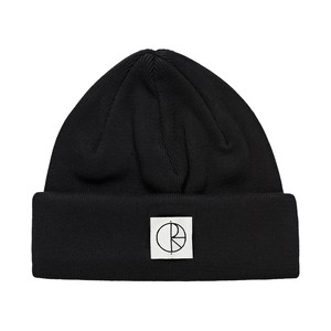 POLAR SKATE CO. DOUBLE FOLD BEANIE BLACK ポーラー ニットキャプ