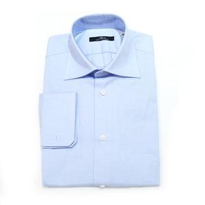 【SALE】ARGENIO 長袖ドレスシャツ 100%コットン - Blue Oxford