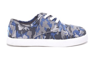 TOMS YOUTH CAMO COTTON RIPSTOP PASEO SNEAKERS
