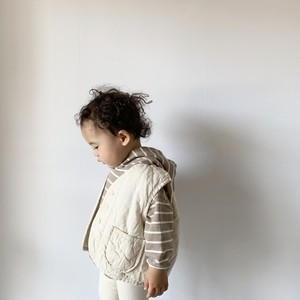 [ Daily tops set A ] 即納 La.camel hug vest ( 韓国子供服 ナチュラルコットンベスト)
