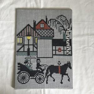 クロスステッチ刺繍の風景