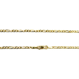 "14K 2.5mm 24"" Figaro Chain(24インチ)"