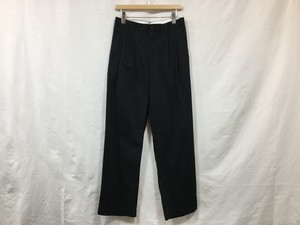 "UNIVERSAL PRODUCTS.""2TUCK WIDE CHINIO PANTS NAVY"""