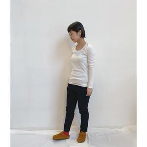 yohaku 5本針長袖tee (品番:T0012)
