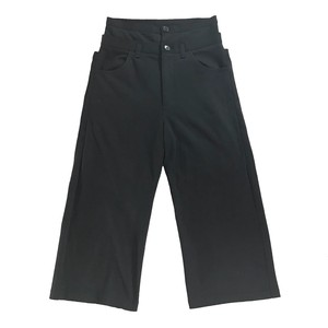 Y'S LAYERED WAIST TROUSERS CROPPED LENGTH