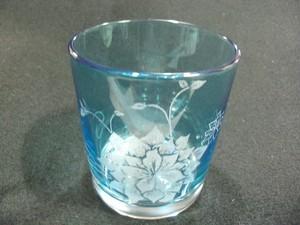 タンブラーグラス 色つき グラスリッツェン フラワー
