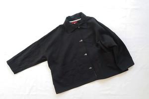 AC200803 国産ミドルワッシャーリネン&ステッチワークのジャケット