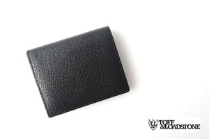 トフアンドロードストン|toffandloadstone|2つ折り財布|ミニウォレット|ペッカリー|Mini wallet Peccary|TMA-039|ブラック