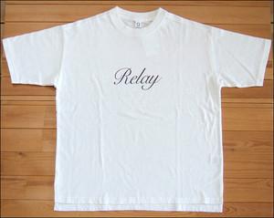 Quand クアンド 天竺プリントTシャツ Relay ホワイト TEE カットソー 半袖 nappalm ナップパーム 203947679
