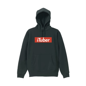 iTuber ボックスロゴパーカー Black