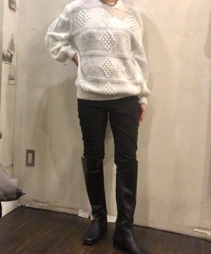 Diamond pattern knit 【Vintage product】