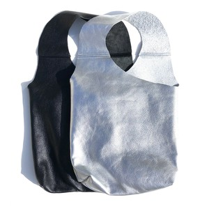 One Shoulder Leather Bag/SILVER