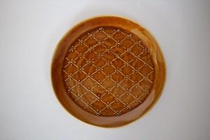 豊田雅代|リムプレート6寸 茶色