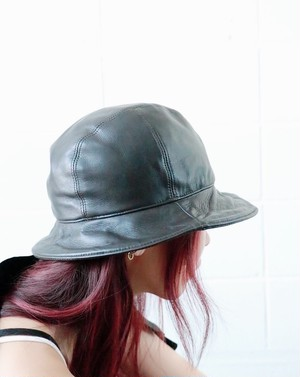 MAX MARA leather hat