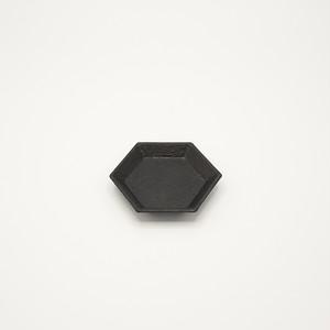 和紙貼六角豆皿S 黒【蝶野秀紀】