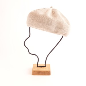 mature ha./beret top gather linen/greige