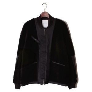 Back Side Detail Fur Blouson -black <LSD-AI3B2>