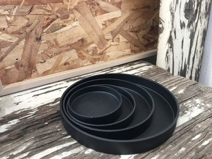 プラ皿 ソーサー プラ鉢受け皿  ブラック SS /  プラ鉢用 プラスチック 黒