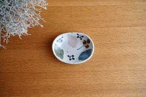 砥部焼/楕円小皿/木の葉/森陶房