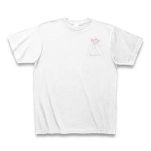 ユキノシタ フラワーイラストTシャツ ワンポイント