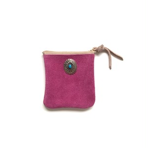 travel mini purse -rose pink-