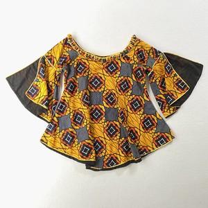 African batik | slit sleeve blouse (V4462A)