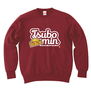 TSUBOMIN / CHEESE & LILY SCRIPT LOGO CREWNECK SWEAT BURGUNDY