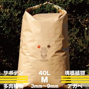 GREAT MIX CULTURE SOIL 【MEDIUM】40L 3mm-9mm サボテン、多肉植物、コーデックス、パキプス、ホリダス、エケベリア、ハオルチア、ユーフォルビア、アガベを対象とした国産プレミアム培養土