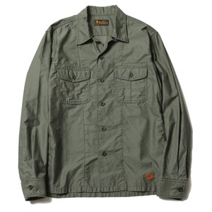 MILITARY SHIRT(OD) / RUDE GALLERY BLACK REBEL