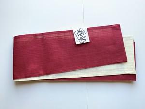 【半巾帯】本麻 浴衣帯(赤)お仕立て上がり品