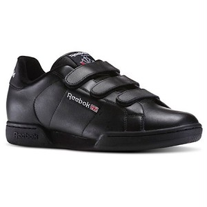 Reebok Classic Npc Straps Trainers Black UK10.5
