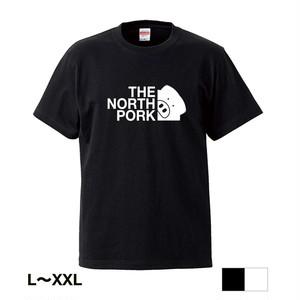 【ノースポーク】ロゴ大 Tシャツ(THE NORTH PORK) 【ブラックorホワイト】