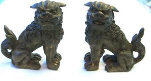 風水 獅子(真鍮製・小)