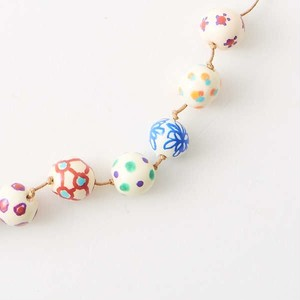 hand painted beads necklace