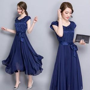 花柄とウエストリボンがオシャレ♡ふんわりスカートのワンピース(3色)