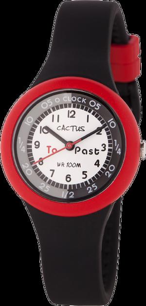 [キッズ腕時計]10気圧防水 ブラック&レッド CAC-92-M01