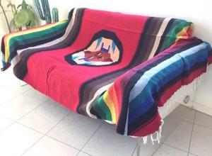 Mexican Rug Blanket メキシカンラグブランケット サン・デザイン