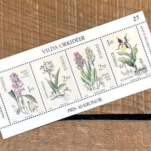 切手(未使用)「野生のラン - 4枚セット(1982)」