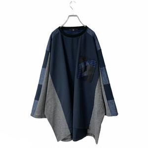 Wide-T-shirts Pocket (navy)