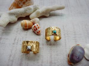 ★ ALOHA Ring ★ white turquoise