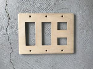スイッチプレート 長穴2角穴2