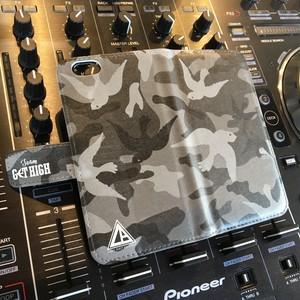 Larkbird Records 携帯ケース(ブラック迷彩) iPhoneケース SIZE:6/6S