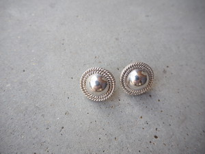 〈vintage silver925〉round design pierce